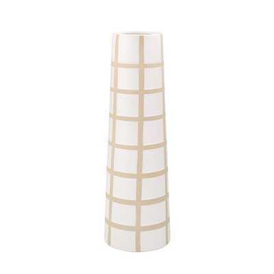 Kavanaugh Ceramic Windowpane Floor Vase - AllModern