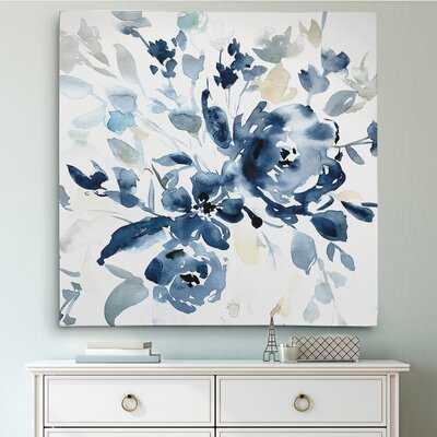 'Indigo Garden I' Oil Painting Print on Wrapped Canvas - Birch Lane