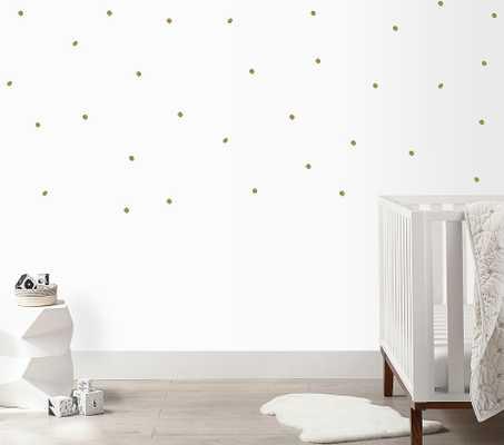 Irregular Dots Wall Decal, Gold - Pottery Barn Kids