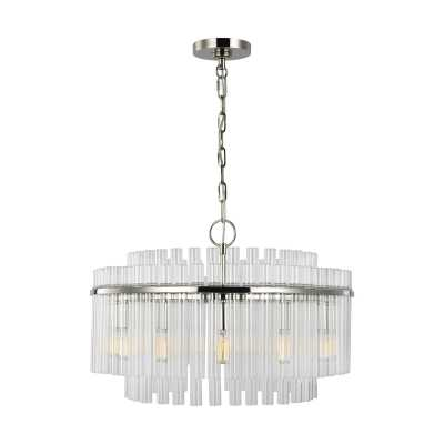 C&M by Chapman & Myers by Generation Lighting 12 - Light Unique Drum Chandelier Finish: Polished Nickel - Perigold