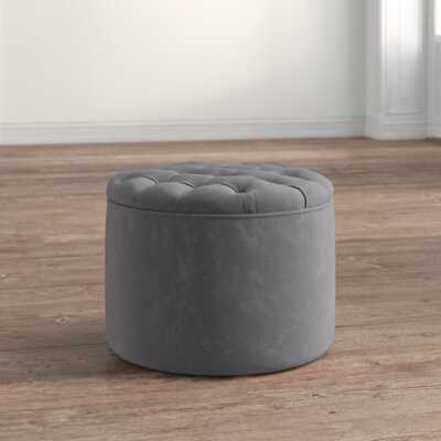 "Reims 21"" Velvet Tufted Round Storage Ottoman - Wayfair"