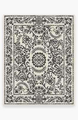 Washable Rug Cover & Pad | Delphina Black & White Rug | Stain-Resistant | Ruggable | 8'x10' - Ruggable