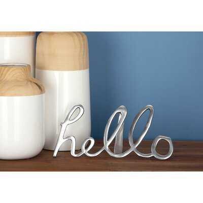3 Pieces Hello Sign Letter Block Set - Wayfair