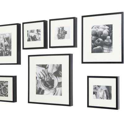 StyleWell Black Frame with White Matte Gallery Wall Picture Frames (Set of 7) - Home Depot