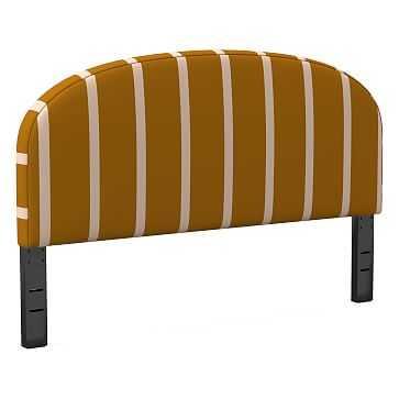 Curved Headboard, Queen, Simple Stripe, Copper - West Elm