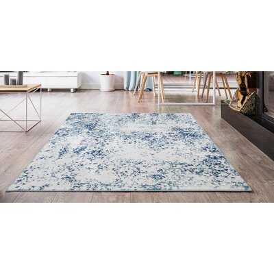 Elkmont Abstract Ivory/Blue Area Rug - Wayfair
