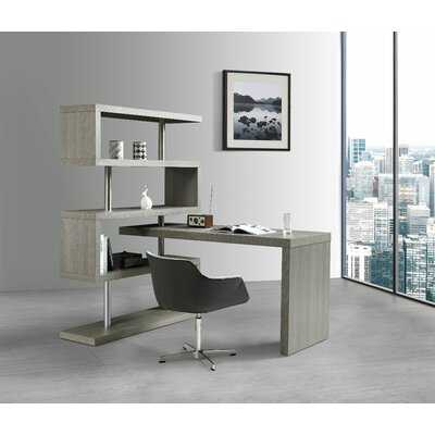 Zone L-Shape Desk with Bookcase - AllModern
