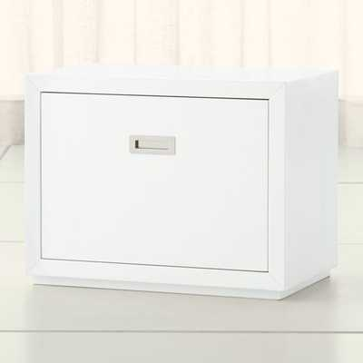 "Aspect White 23.75"" Modular Low File Cabinet - Crate and Barrel"