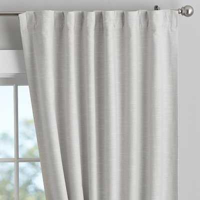"Cotton Linen Blackout Curtain - Set of 2, 84"", Gray - Pottery Barn Teen"