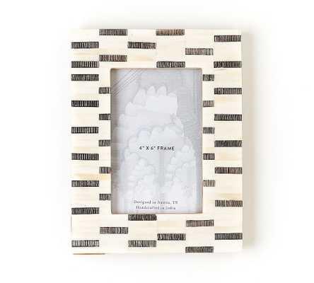 "Maleah Bone Frame, 4"" X 6"" - Pottery Barn"