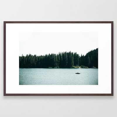 Lake Days Framed Art Print by Hannah Kemp - Conservation Walnut - LARGE (Gallery)-26x38 - Society6