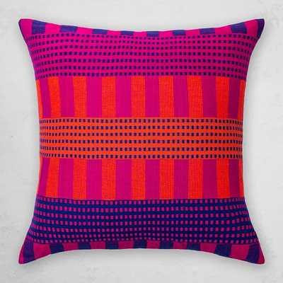 Bole Road Textiles Pillow, Gey, Fuchsia - West Elm