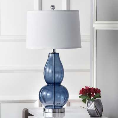 Mercurio 28.5-Inch H Double Gourd Table Lamp - Blue - Set of 2 - Arlo Home