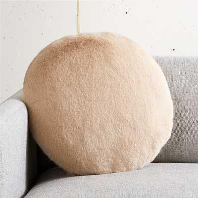 Harlee Light Brown Round Pillow - CB2
