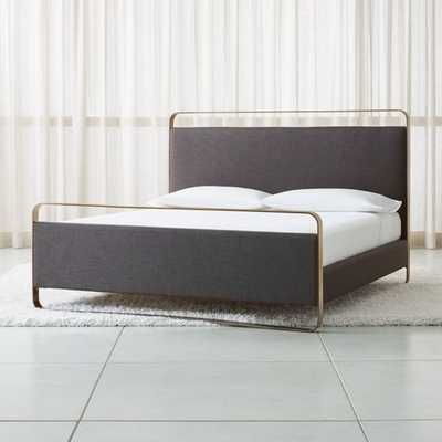 Gwen King Metal and Upholstered Bed - Crate and Barrel