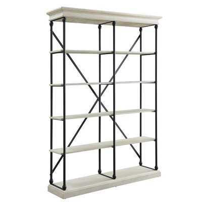Womac 84'' H x 58'' W Metal Library Bookcase - Wayfair