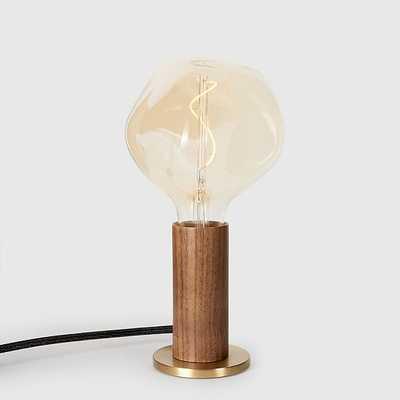 Tala Darkwood Knuckle Table Lamp With Voroni I Bulb - West Elm