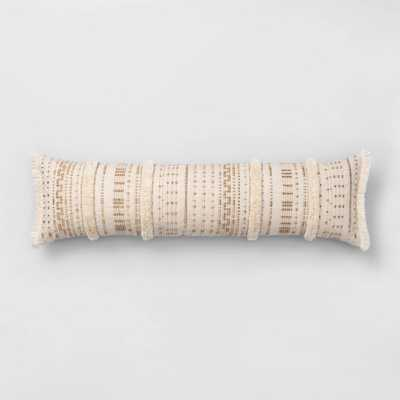 Corded And Tufted Oversize Lumbar Throw Pillow Neutral - Opalhouse , Beige - Target