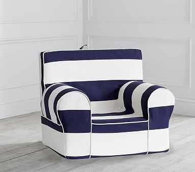 Navy Classic Rugby Stripe Anywhere Chair(R) - Pottery Barn Kids