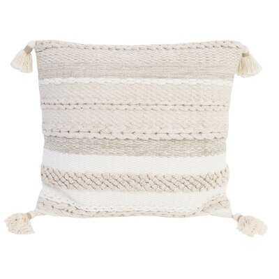 Cotton Feathers Striped Throw Pillow - Wayfair