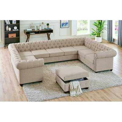 Mikesell Symmetrical U Sectional with Ottoman - Wayfair