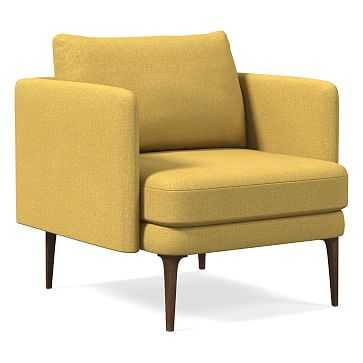 Auburn Chair, Poly, Basket Slub, Dark Horseradish, Dark Mineral - West Elm