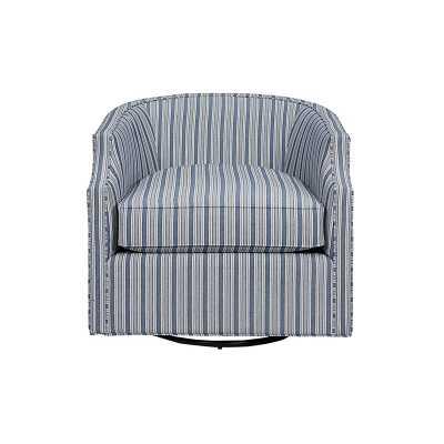 Skylar Swivel Glider Chair in Downey Blue - Stocked   - Ballard Designs - Ballard Designs