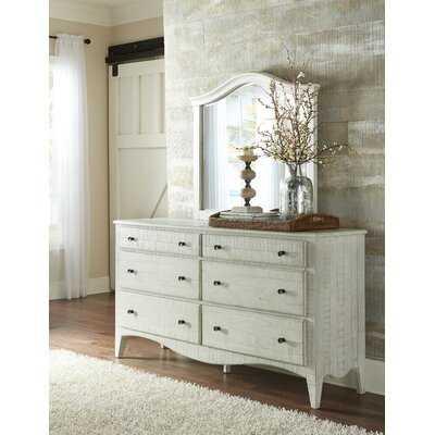 Allyson 6 Drawer Combo Dresser with Mirror - Birch Lane