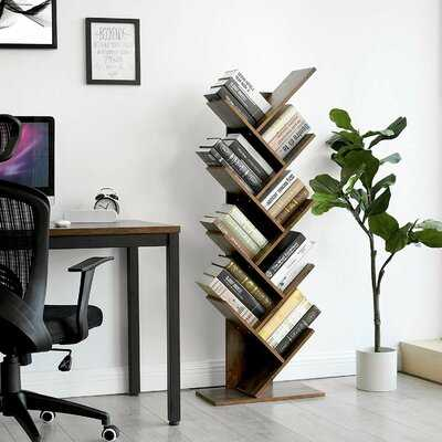 Trivette Geometric Bookcase - Wayfair