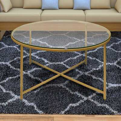 Dryer Round Metal Coffee Table with Tray Top - Wayfair