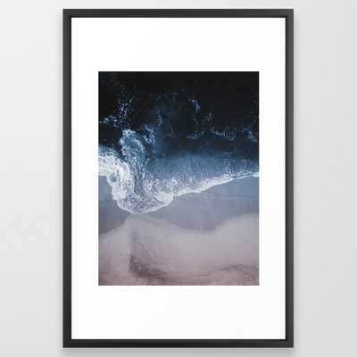 Deep Blue Ii Framed Art Print by Ingrid Beddoes Photography - Vector Black - LARGE (Gallery)-26x38 - Society6