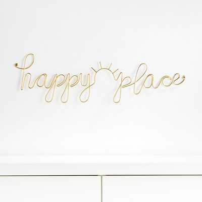Happy Place Wire Wall Decor - Crate and Barrel