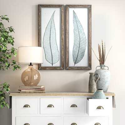 'Tall Leaves' 2 Piece Picture Frame Print Set - Birch Lane