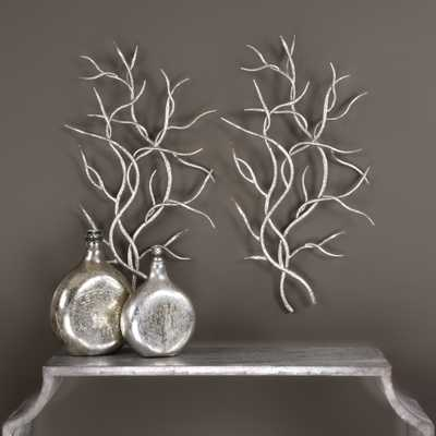 Silver Branches Wall Art S/2 - Hudsonhill Foundry