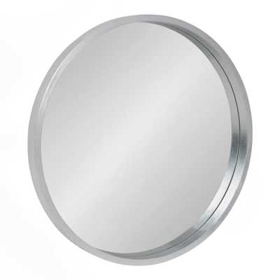 Kate and Laurel Travis Round Silver Wall Mirror - Home Depot