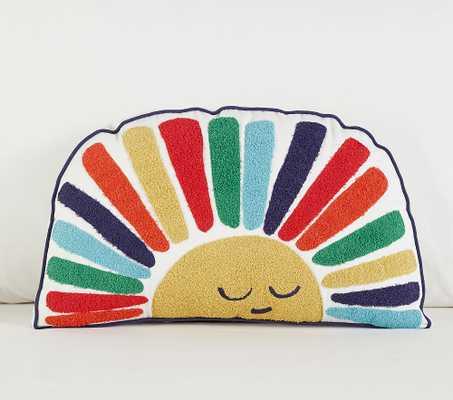 Rainbow Sun Pillow, Shaped, Multi - Pottery Barn Kids