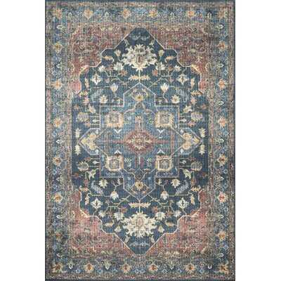 Skye Oriental Denim Area Rug, Rectangle 9' x 12' - Wayfair