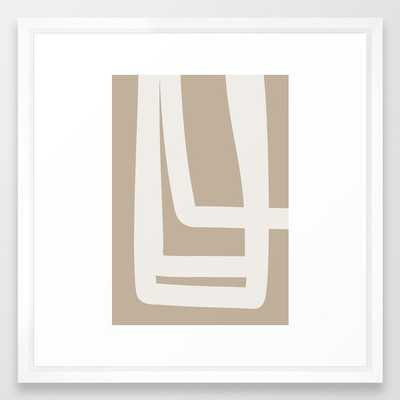 Neutral Abstract 5a Framed Art Print by The Old Art Studio - Vector White - MEDIUM (Gallery)-22x22 - Society6