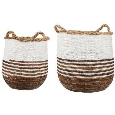 Meryl 2 Pieces Wicker Basket Set - Wayfair