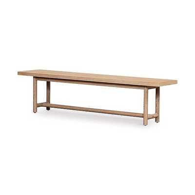 Modern Oak Dining Bench - West Elm
