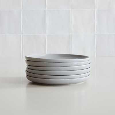 Dinnerware Stoneware, Salad Plate, Stoneware, Dove Gray, Set of 6 - West Elm