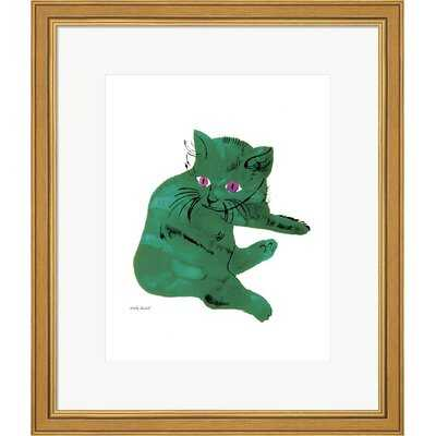 'Green Cat, 1956' by Andy Warhol - Picture Frame Painting Print on Paper - Wayfair