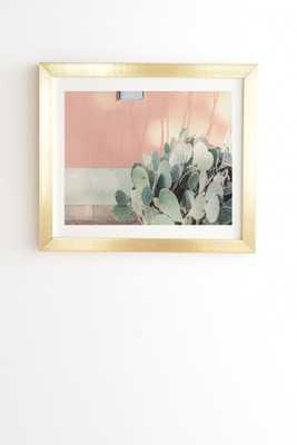 "Local Color X Marfa Texas by Ann Hudec - Framed Wall Art Basic Gold 30"" x 30"" - Wander Print Co."