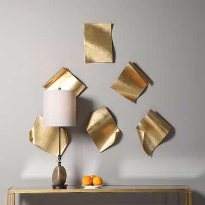 Fluttering Pages Wall Decor, S/6 - Hudsonhill Foundry