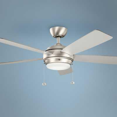 "52"" Kichler Starkk Brushed Nickel LED Ceiling Fan - Style # 9F672 - Lamps Plus"