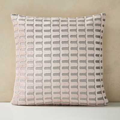 "Cut Velvet Archways Pillow Cover, Set of 2, 18""x18"", Misty Rose - West Elm"