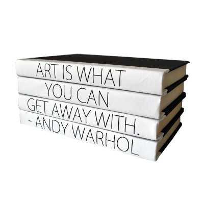 Art Quote Stack 4 Piece Decorative Book Set - Perigold
