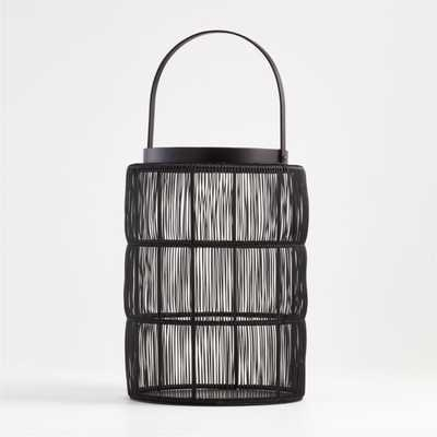 Ora Large Black Wire Lantern - Crate and Barrel