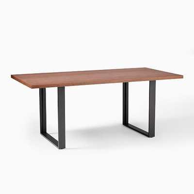 "Tompkins 74"" Industrial Dining Table, Cool Walnut, Antique Bronze - West Elm"