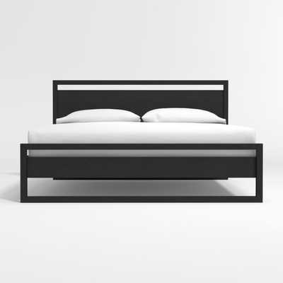 Linea Black King Bed - Crate and Barrel